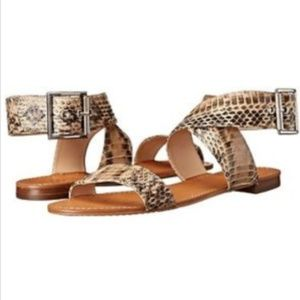 Vince Camuto Maren Snakeskin Leather Sandals Sz 7